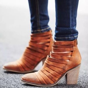 Free People Hybrid Strappy Leather Ankle Boot 41